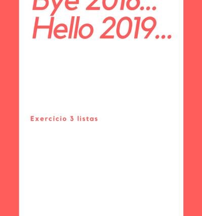 Bye 2018… Hello 2019…